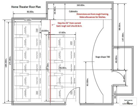 home theater floor plan home theatre cybermanor