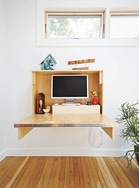 build  compact fold  desk  small spaces