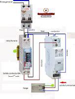 maniobra de luminarias accionado desde reloj horario con proteccion de un contactor esquemas