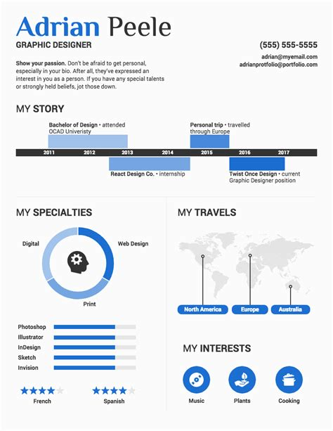 cv infography template infographic resume template venngage