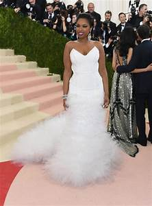 Dress white jennifer hudson metgala2016 red carpet for Jennifer hudson wedding dress