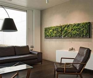 Natur pur im Haus dank grüner Wand
