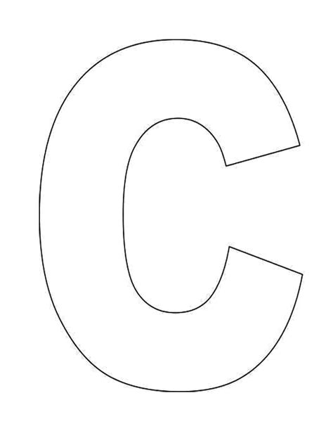 Large Letter C Template by Letter C Coloring Pages Printable Coloring Home