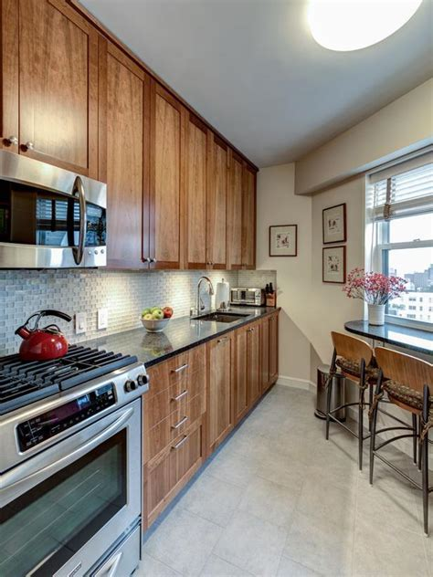 Angled Wall Contemporary Kitchen   HGTV