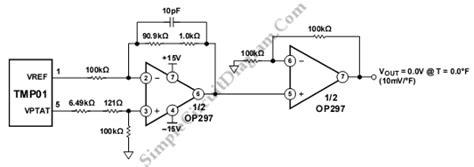 Tmp Fahrenheit Scale Temperature Sensor Simple Circuit