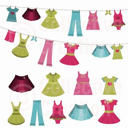 Clip Clothes Clipart Clothing Line Spring Cliparts