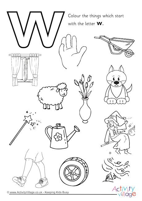 start with the letter w colouring page 456 | start with the letter w colouring page 460 2