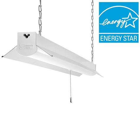 brightest fluorescent shop light commercial electric 4 ft bright cool white integrated led