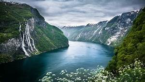 nature, Landscape, Mountain, River, Waterfall, Norway ...