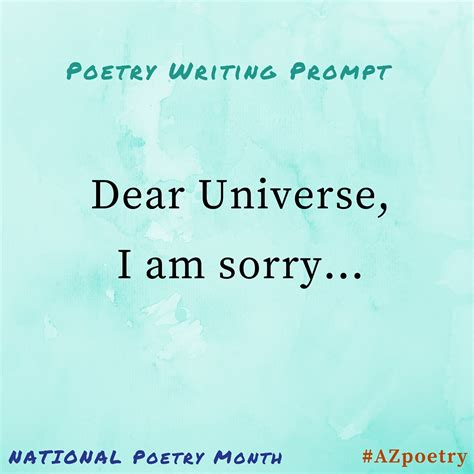 Poetry Writing Prompts April 20th 30th  Az Humanities