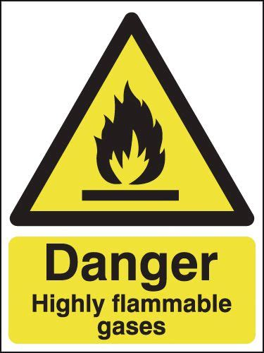 Danger Highly Flamable Gases Signs   Seton