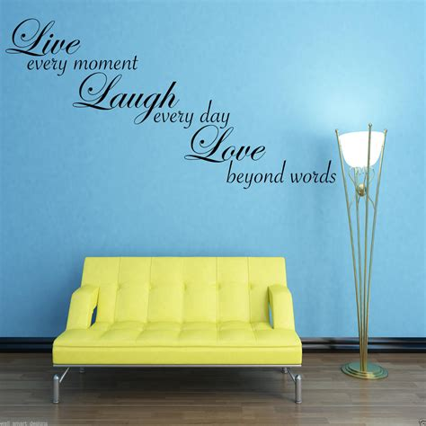 Live love laugh set 3 wall mount metal wall word sculpture, wall decor by super z outlet. LIVE LAUGH LOVE Wall Sticker Lounge Quote Decal Transfer 2 WSD609 | eBay