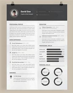 20 beautiful free resume templates for designers With cv template photoshop