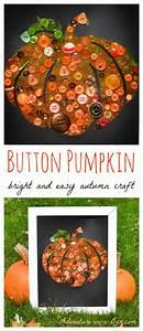 Button, Pumpkin, Easy, Autumn, Craft