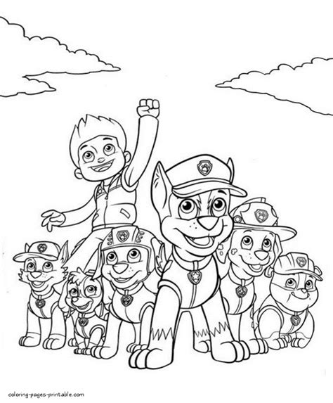 printable paw patrol coloring pages printable coloring pages of paw patrol characters