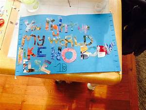 1find a song quote u2 cut out letters tape on poster With cut out letters for poster board