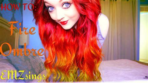 fire ombre hair dye tutorial   put