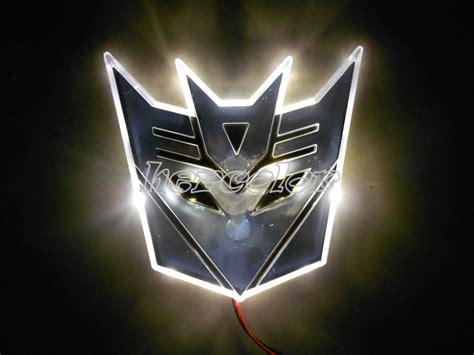 led transformers autobot  logo emblem badge decal auto