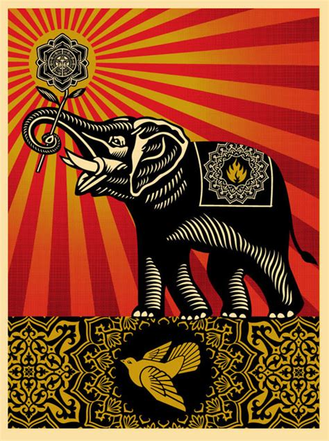 Shepard Fairey Tuesday Obey The Elephant