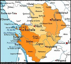 Poitiers Carte De France : map of poitou charentes france france atlas ~ Dailycaller-alerts.com Idées de Décoration