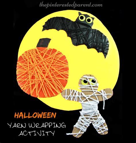 Halloween Yarn Wrap Activity  The Pinterested Parent
