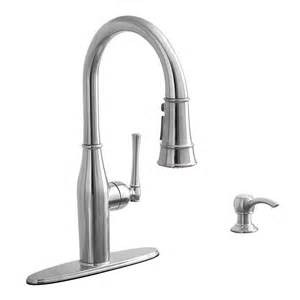 Aquasource Kitchen Faucets Shop Aquasource Stainless Steel Pull Kitchen Faucet At Lowes