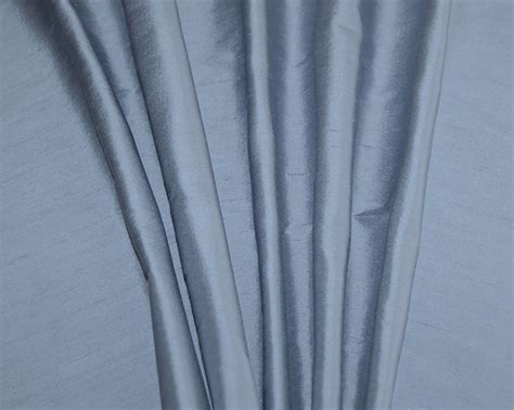 Blue Dupioni Silk Custom Drapes, Curtains And Shades