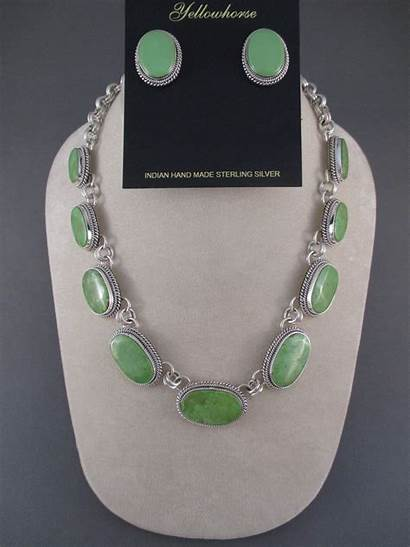 Gaspeite Necklace Yellowhorse Artie Jewelry Navajo Native