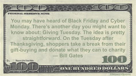 bill gates giving tuesday charity donation money quotes