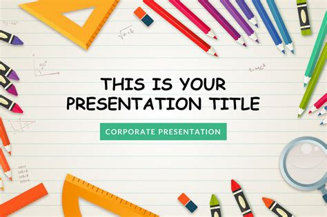 kindergarten  powerpoint template powerpointify