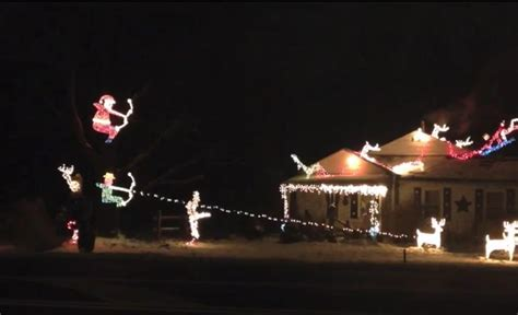 Outdoor Lighted Snowman Decorations by Ohio Bowhunter Builds Hunting Themed Christmas Spectacle
