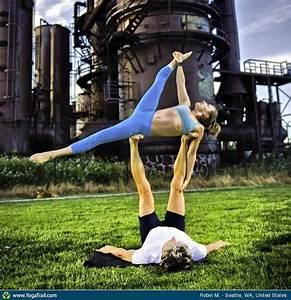 Acro  Partner Yoga   Asana Image By Robinmartin