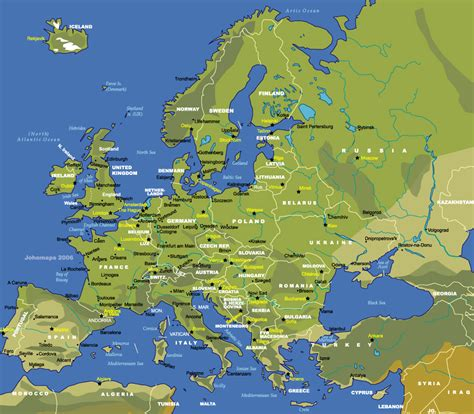 Carte Europe Capitales by Harta Europa Harta Rutiera A Europei Harta Turistica