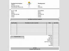 Plumbing Invoice Template Word invoice example