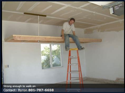Garage Shelving Hanging by Garage Overhead Storage Projects For My Garage Garage