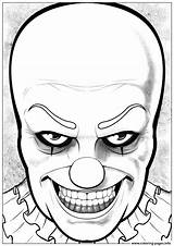 Pennywise Coloring Halloween Colorare Disegni Clown Justcolor Adulti Printable Horror Drawing Erwachsene Coloriage Colorear Grippe Adultos Adults Draw Fur Jeffy sketch template