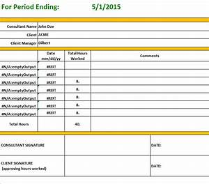 consultant time tracking template - consultant timesheet template for weekly report