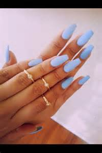 Coffin Nails Blue