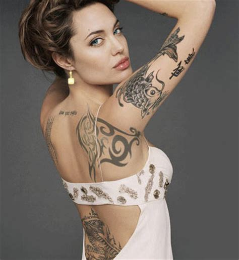 tatouages angelina jolie tattoo blog