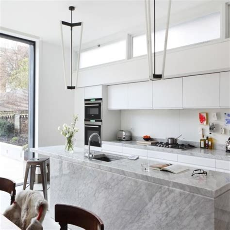 white marble kitchen island 20 sleek and serene all white kitchen design ideas to inspire rilane