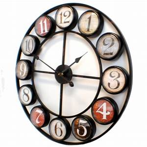 Kare vintage wall clock colour for Cool wall clocks uk