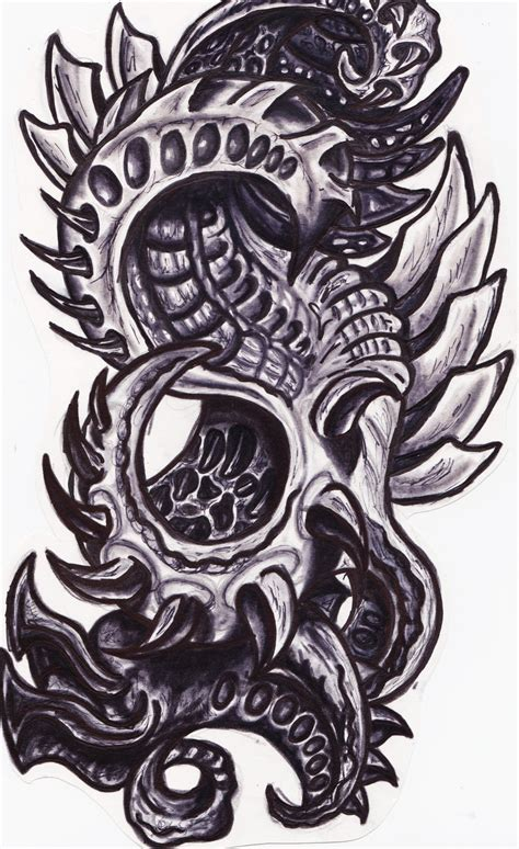 biomechanical tattoos  designs page