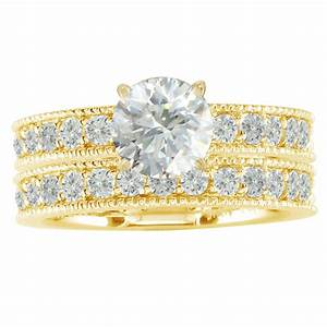 bridal sets yellow gold bridal sets wedding rings With yellow gold engagement wedding ring sets