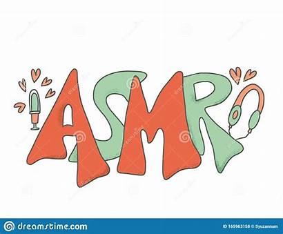 Asmr Letters Acronym Drawn