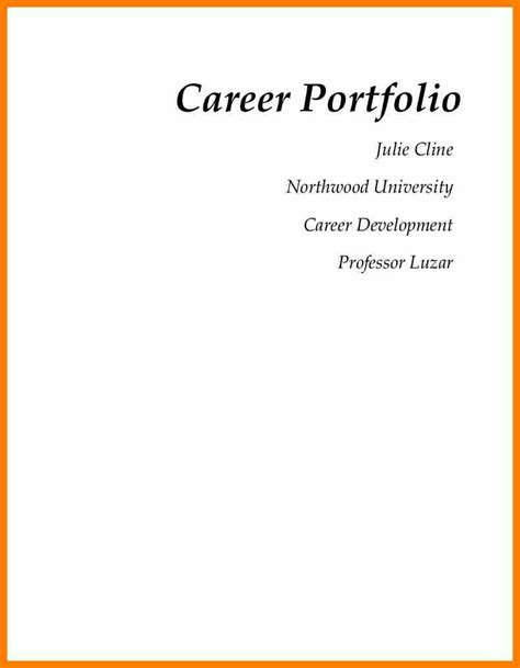 6 cover page career portfolio science resume