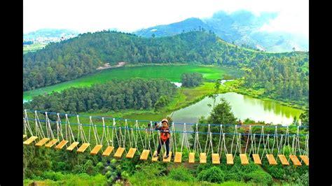 wisata alam dieng jembatan merah putih wonosobo jawa