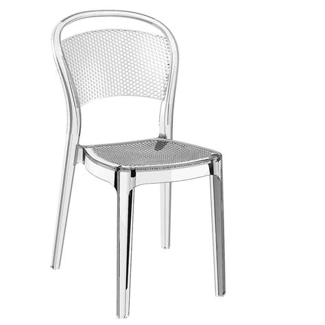chaises polycarbonate chaise moderne en polycarbonate bee 4 pieds tables