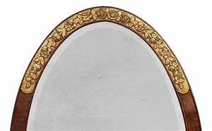 Grand Cadre Deco : grand miroir ovale 1925 art deco dorure or et patine marbre ~ Teatrodelosmanantiales.com Idées de Décoration