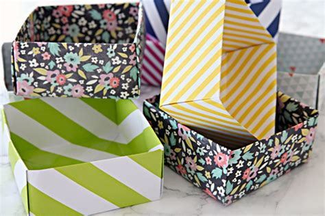 Diy Paper Box Drawer Organizers And An Organized