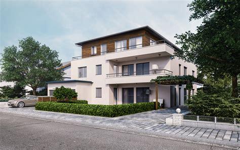 Mehrfamilienhaus Architekturvisualisierung  Render Vision
